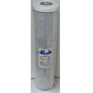 "Jumbo 20"" GAC Filter - 4.5""x20"" Carbon Block Filter Cartridge - 5 micron"