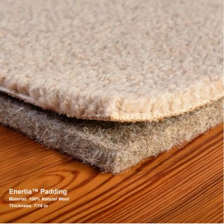 Wool Enertia Carpet Padding Sold in full rolls dimensions: 6'  wide by 37.5' long - 25 sq yds