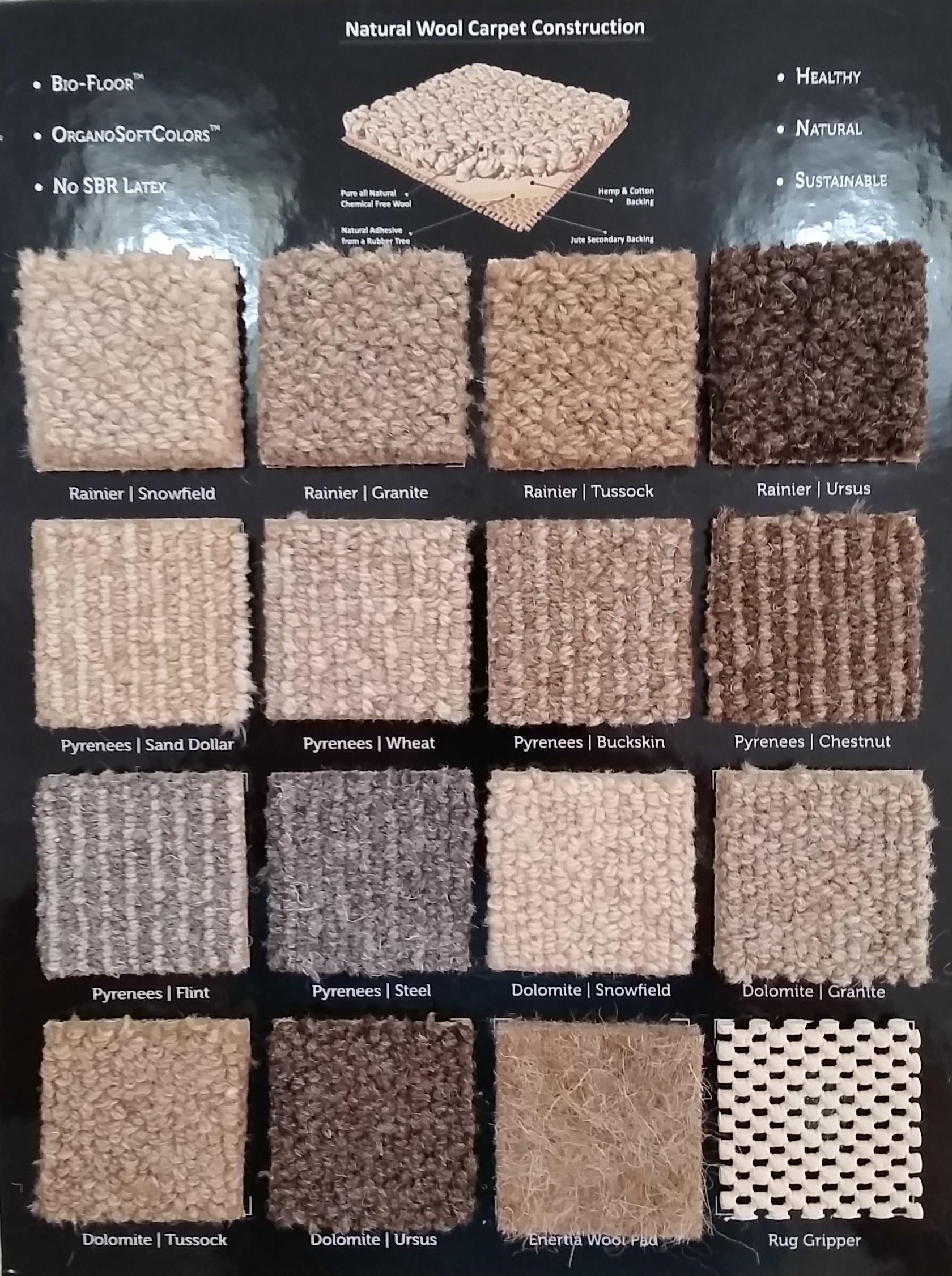 Earth Weave Carpet Rug Samples Kit