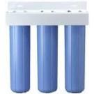 "20"" Triple Big Blue Filter Housings with Bracket 1""FNPT"