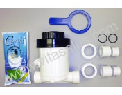 Main Components of the Vitasalus Inline Chlorinator Chlorine Feeder System