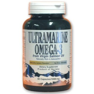 Ultramarine Omega-3 Virgin Salmon Oil 1080 mg/90 Gelcaps