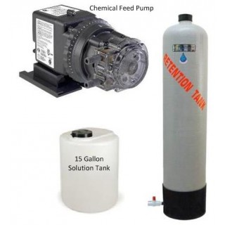 Complete Package - Chemical Liquid Injection Feed Pump w/ Solution Tank and Retention Tank