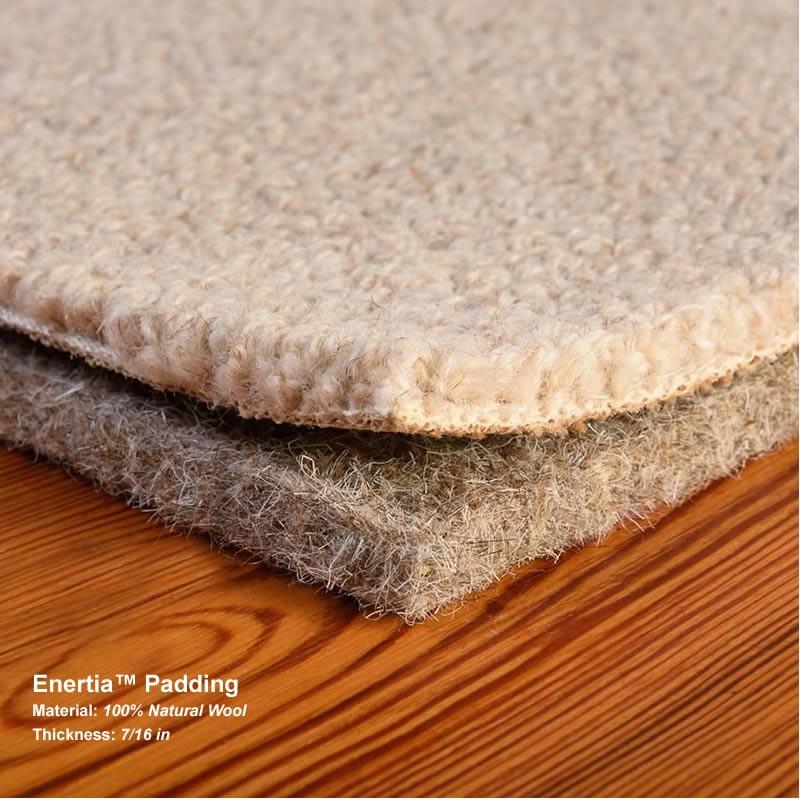 Wool Enertia Carpet Padding Sold In Full Rolls Dimensions
